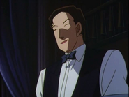 Vermouth's disguise as a waiter