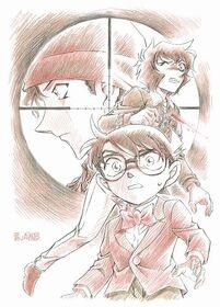 Orginalzeichnung von Gosho Aoyama für den 18. Detektiv Conan Film