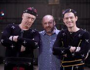 Clancy Brown, David Cage and Bryan Dechart