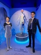 Statues of Kara and Connor