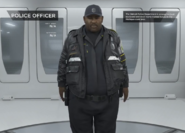 Police officer extras gallery male black fat