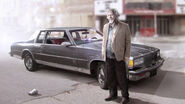 Hank Anderson and his car Artwork