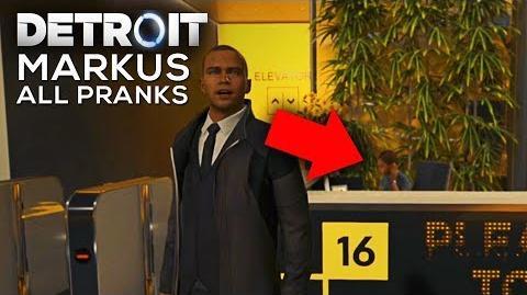 Markus Prank Calls the Receptionist (All Pranks) - DETROIT BECOME HUMAN