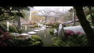 Zen garden artwork spring