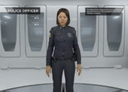 Police officer extras gallery female person