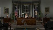 Warren in White House oval office