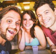 Matt Vladimery, Amelia Rose Blaire and Bryan Dechart