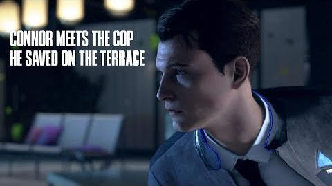 Connor Meets The Cop He Saved in The Hostage Chapter - Detroit Become Human