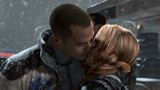 Marcus and North kiss