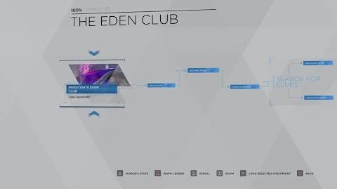 20 - CONNOR - THE EDEN CLUB 100% FLOWCHART - DETROIT BECOME HUMAN