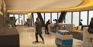 Stratford tower floor 47 cafeteria