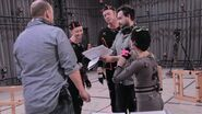 David Cage, Valorie Curry, Dominic Gould, Benjamin Diebling and Audrey Boustani