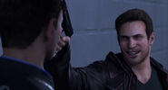 Gavin taunts Connor with his gun- Last Chance,Connor