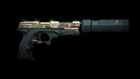 Pistol Elite with silencer back