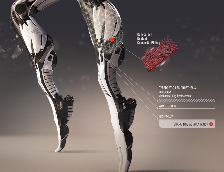Cybernetic Leg Prosthesis (DXHR)