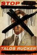 ARC Talos Rucker poster defaced
