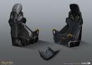 DXMD VTOL pilot seat concept