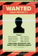 Janus wanted poster