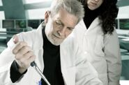 Hugh Darrow in a lab