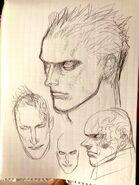 DMC3 Vergil Arkham sketch Ikeno