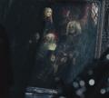 A portrait of Eva, Sparda, Dante, and Vergil
