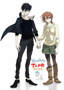 Anzai and Tsukasa anime