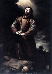 Bartolomé Esteban Murillo - St Francis of Assisi at Prayer.JPG