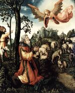 Lucas Cranach d. Ä. - The Annunciation to Joachim - WGA05664