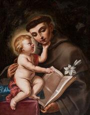 El niño Jesús y San Antonio de Padua.JPG