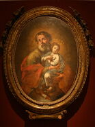 St Joachim and Young Mary Immaculata (18th cent) - Unknown artist - Museo Diocesano - Agrigento - Italy 2015