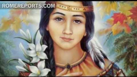 """Kateri Tekakwitha, la primera santa """"piel roja"""""""