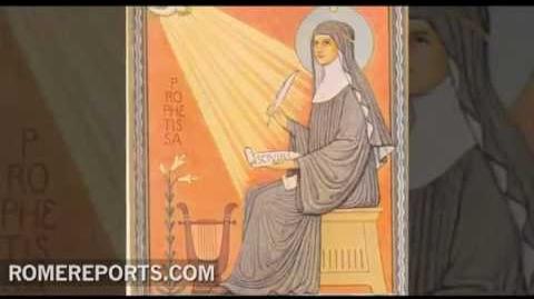 Benedicto XVI declara oficialmente santa a Hildegarda de Bingen