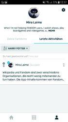Android FANDOM-App - Letzte Aktivitäten