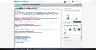 Code-Ansicht-Editor