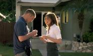 Quinn meets Hill outside Bell's house 8