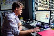 Dexter researches Evelyn Vogel