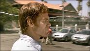 Dexter stalks Roger Hicks in car lot