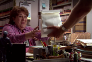 Dexter gives Camilla donut