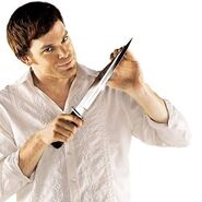 Dexter and knife