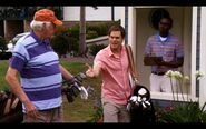 Dexter golfs with Walter Kenney