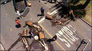 Dexter on scene at Barrel Girls' accident