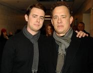 Colin Hanks with Tom Hanks