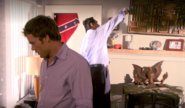 Dexter and Miguel search Fleeter's house
