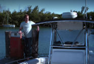 Dexter fuels his boat 1
