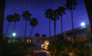 The Bluewater Hotel after dark 1