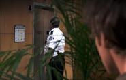 Guard at elevator S4E5