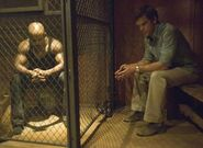Doakes in a cage