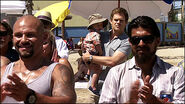 Dexter watches beach baptism