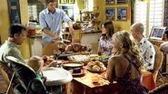 Dexter cuts Thanksgiving turkey
