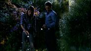 Deb and Quinn find footprint 510